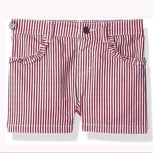 NWT GYMBOREE Red/ White Striped Shorts